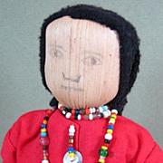 "9 1/2"" Corn Husk SENECA Indian Doll ~ Sweet Face!"