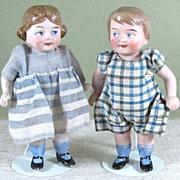 "SALE 4 3/8"" Pr Googly Twins by Kestner ~ Molds 281 & 282"