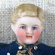 """SALE Fine Early 5"""" Dollhouse Boy Doll ~ Sailor Boy"""