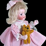 """REDUCED 7 1/2"""" Kestner 257 /19 ~ Wonderful Big All Bisque Doll"""