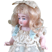 """Pretty 5"""" Kling All Bisque Doll with Blue Stockings"""
