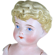 """Lovely 7"""" Early Kling Child All Bisque Doll"""