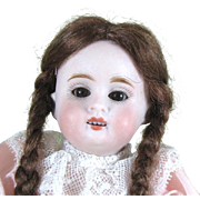 "Pretty 6 3/4"" Kestner 150 All Bisque Doll with Brown Sleep Eyes"