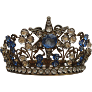 SOLD 19th c. French Jeweled Crown