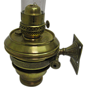REDUCED Railroad or Marine Wall Bracket Oil Lamp - Adams & Westlake