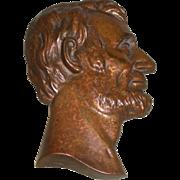 Abraham Lincoln Bronze Hanging Plaque