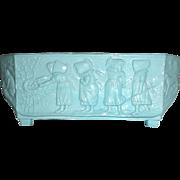 Sowerby Blue Children's glass Flower Pot Walter Crane design