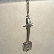 Japanese Samisen pendant Sterling Musical Instrument