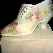 Royal Bayreuth Tapestry Shoe Amer. Beauty Rose