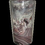 Purple Slag Marble Glass Sowerby Half Pint tumbler