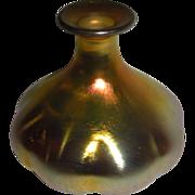 Steuben Aurene Perfume Bottle melon shape needs stopper