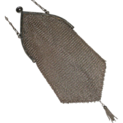Sterling silver mesh purse Engraved Frame