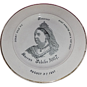 Queen Victoria Jubilee 1887 Plate Denby Dale Pie