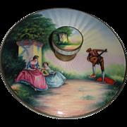 Scenic Enamel Guilloche Round Hand Mirror Fabulous quality