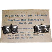 Naughty Cufflinks from Aviator Club Quiet Birdmen Wilmington 1968
