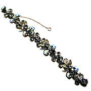 Regency Designer Signed Black Diamond and Aurora Black Diamond Bracelet