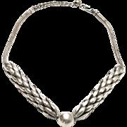 "Napier Designer Signed ""Wheat Chain"" Necklace"