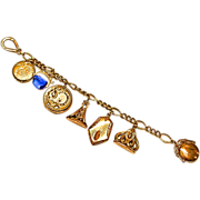 Victorian Gold Filled Lockets and Fobs Bracelet