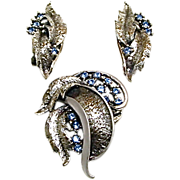 Tortolani Designer Signed Brooch & Earrings Demi