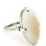 Vintage Modernist Style Platinum Opal Ring