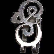 "Apollo Sterling Initial ""G"" Money Clip or Napkin Holder"