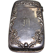 Vintage Sterling Silver Match Safe  / Vesta circa 1920-30's