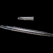 Tiffany & Co Sterling Silver Crosshatch Diamond Pattern Ballpoint Purse Pen