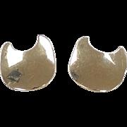 REDUCED Vintage 14k Gold BIG Stud Earrings