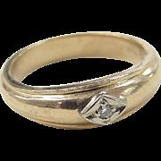 REDUCED Vintage 14k Gold Men's Diamond Ring