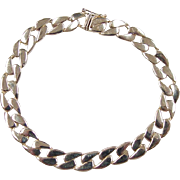 REDUCED Vintage 14k Gold Curb Link Bracelet ~ 7 1/4""