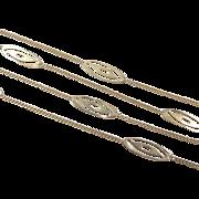 """REDUCED Vintage 14k Gold Station Necklace 15"""" ~ 2.5 Grams"""