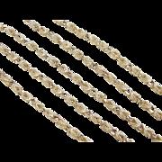 """SALE Vintage 14k Gold Necklace 22"""" ~ 18.7 Grams"""