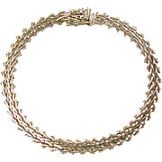 """SALE Vintage 14k Gold Bracelet 8"""" ~ 15.1 Grams"""