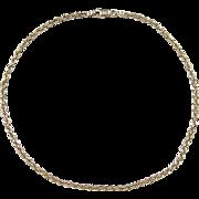 "SALE Vintage 10k Gold Diamond Cut Rope Anklet ~ 10"" ~ 3.4 Grams"