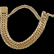 "SALE HEAVY 21k Gold Men's Reversible Link Bracelet ~ 8"" ~ 121.3 Grams"