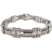 SALE WIDE 14k White Gold Men's .68 ctw Diamond Bracelet ~ 79.2 Grams