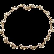 SALE Vintage 14k Gold Dolphin Bracelet