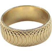 SALE Vintage 14k Gold Band