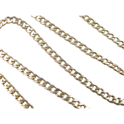 SALE Vintage 14k Gold Men's Curb Link Chain ~ 21 3/4""