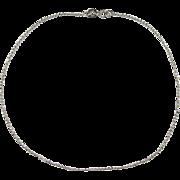 "SALE Vintage 14k White Gold Bead Anklet ~ 10"" ~ 1.4 Grams"