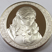 SOLD Vintage 1974 Sterling Silver Round Bullion - Mother's Day