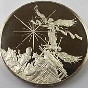 SOLD Vintage 1972 Sterling Silver Round Bullion - Birth of Christ
