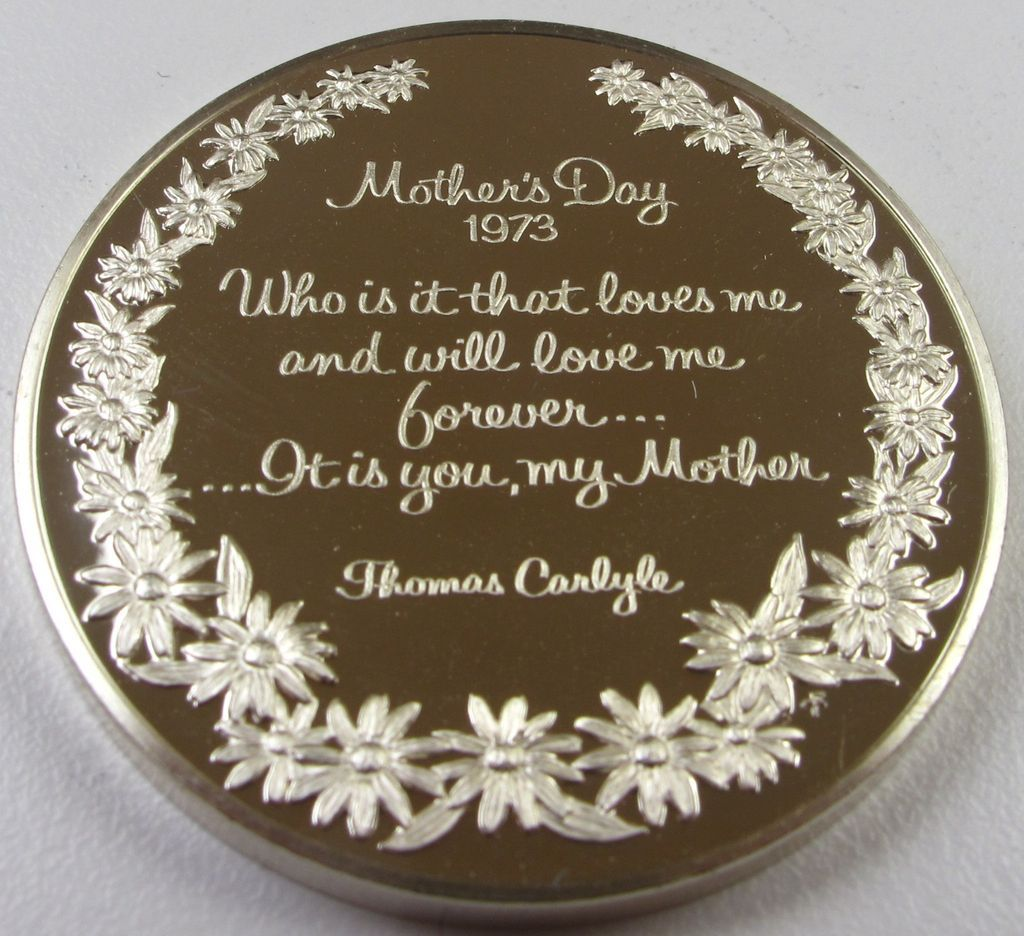 Vintage 1973 Sterling Silver Round Bullion - Mother's Day