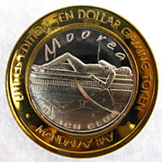 Limited Edition Las Vegas, NV Gaming Token 0.999 Silver Mandalay Bay Casino - Moorea Beach Club