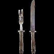 """SALE Estate Sterling Silver Carving Set - Gorham """"Hispana-Sovereign"""""""
