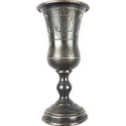 19th Century Hand Crafted Silver Kiddish Cup