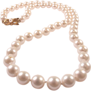 Vintage Mikimoto Cultured Pearl Strand 8 MM Matinee Length