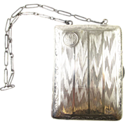 Edwardian Sterling Silver Necessary / Purse, Wrist-let