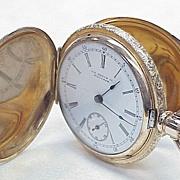 1892 U.S. Watch Co. of Waltham 14k  Hunter Case