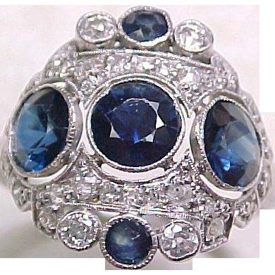 Item ID: KA 3.30 ctw Sapphire Ring In Shop Backroom